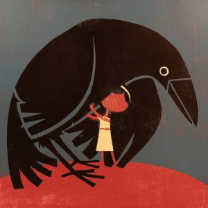 Raven and girl