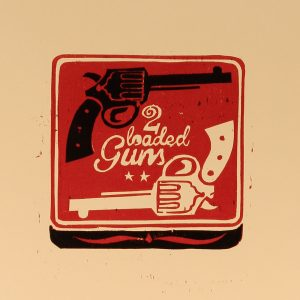 2 loaded guns