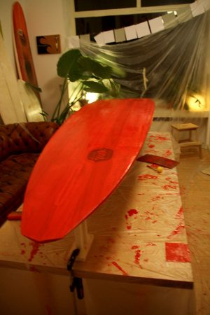 laminated red