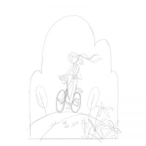 sketch bikeride